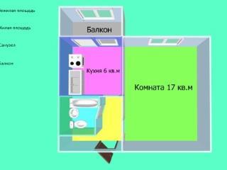 Продажа квартир: 1-комнатная квартира, Черкесск, Парковая ул., 1, фото 1