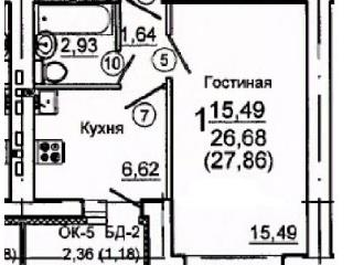 Продажа квартир: 1-комнатная квартира, Саратов, проезд Декоративный 2-й, фото 1