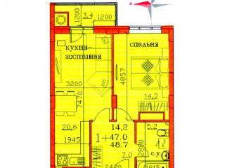 <strong>1 927 950</strong> <span class='icon-rub'><b>руб.</b></span><br />   1к-квартира, 48.7&nbsp;м&sup2; 16&nbsp;этаж