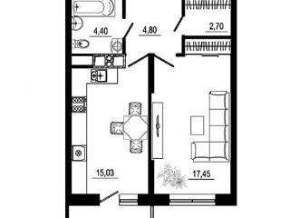 Продажа квартир: 1-комнатная квартира, Краснодар, Табачная ул., 1, фото 1