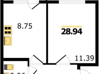 Продажа квартир: 1-комнатная квартира в новостройке, Владимир, мкр. Пиганово, Центральная ул., 30, фото 1