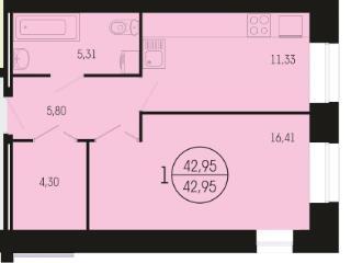 Продажа квартир: 1-комнатная квартира, Красноярск, Краснодарская ул., 8, фото 1