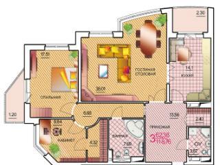 Продажа квартир: 3-комнатная квартира, Краснодар, ул. им Котлярова Н.С., 12, фото 1