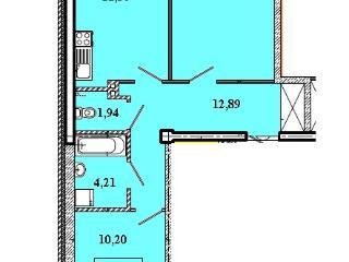 Продажа квартир: 2-комнатная квартира в новостройке, Иркутская область, Шелехов, Кольцевая ул., фото 1