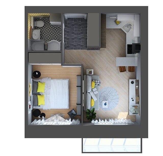 Продажа квартир: 1-комнатная квартира в новостройке, Краснодарский край, Новороссийск, ул. Видова, фото 1