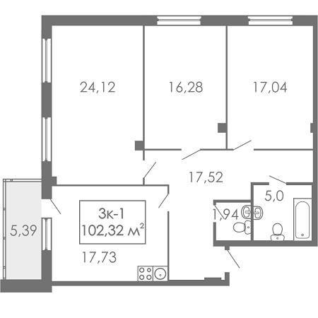 Квартира в новостройке Екатеринбург, ул. Старых Большевиков - 1