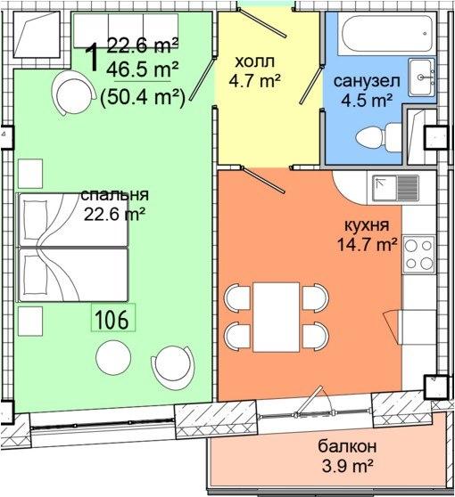 Продажа квартир: 1-комнатная квартира, Московская область, Видное, Сосновая ул., 15к1, фото 1