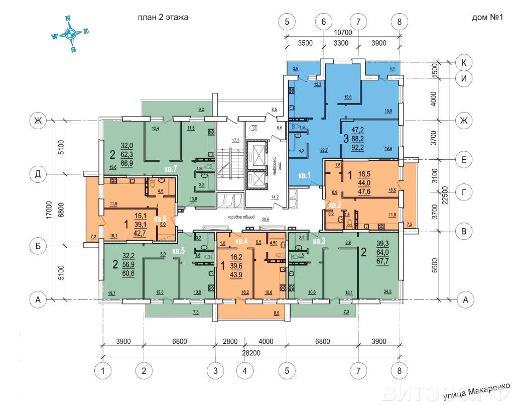Продажа квартир: 3-комнатная квартира в новостройке, Тула, ул. Макаренко, фото 1